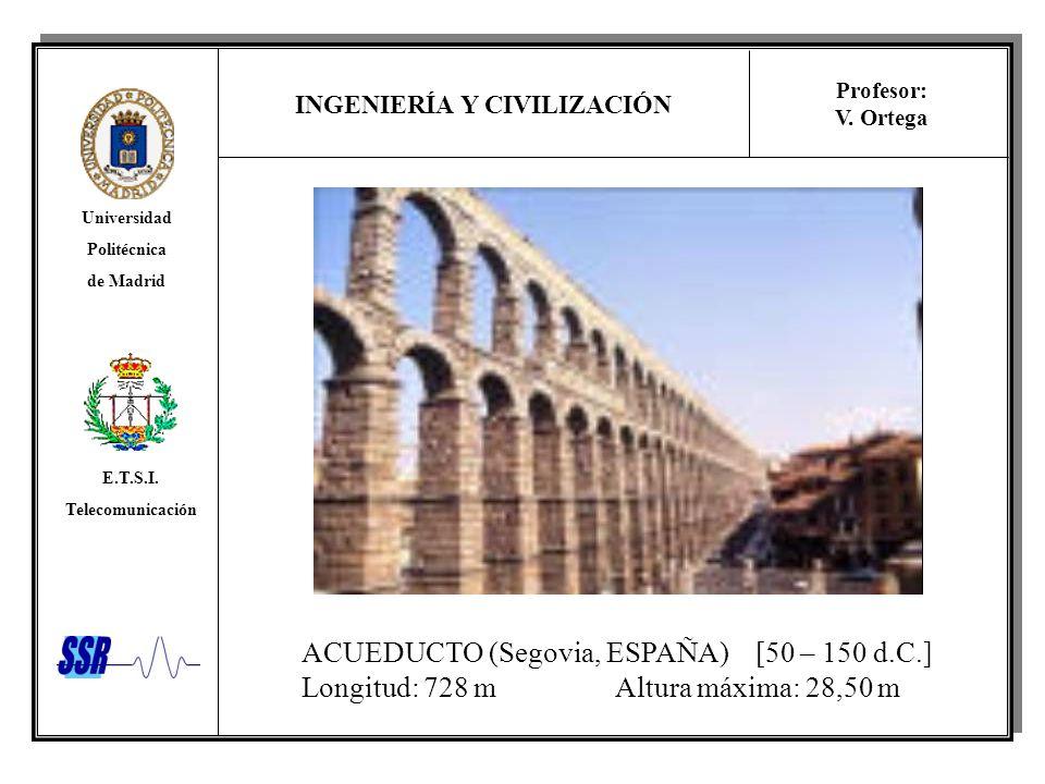 ACUEDUCTO (Segovia, ESPAÑA) [50 – 150 d.C.]